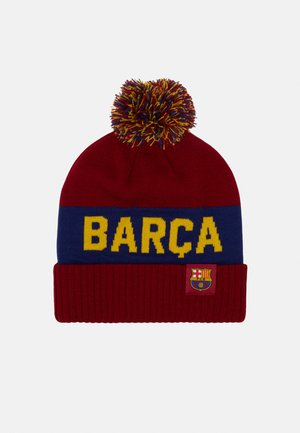 FC BARCELONA POM BEANIE - Beanie - noble red/deep royal blue