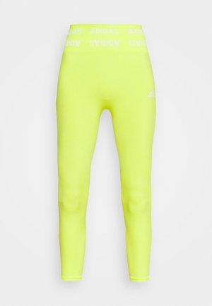 Tights - acid yellow