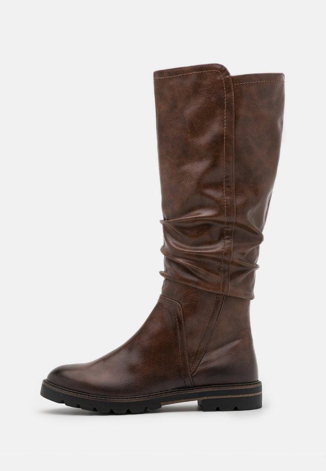 BOOTS - Stivali alti - chestnut antic