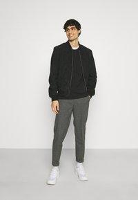 Schott - Leather jacket - navy - 1