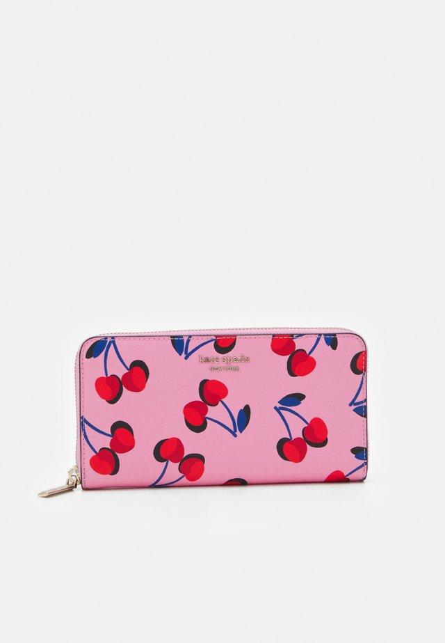 SPENCER CHERRIES ZIP AROUND CONTINENTAL WALLET - Wallet - pink