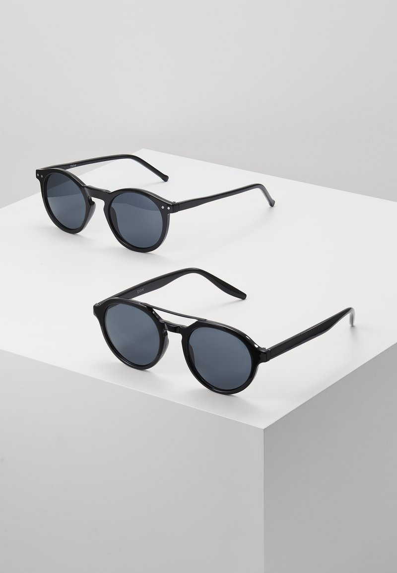 Zign - 2 PACK - Gafas de sol - black/grey