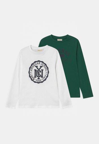 KID 2 PACK - Maglietta a manica lunga - green/white