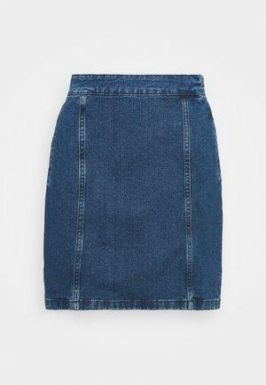 NMPERI SKIRT - Mini skirt - medium blue denim