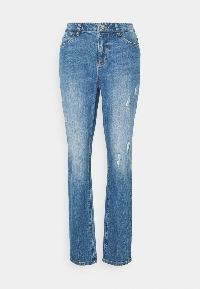 NMOLIVIA  - Straight leg jeans - medium blue denim