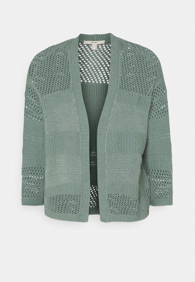 POINTELLE - Vest - turquoise