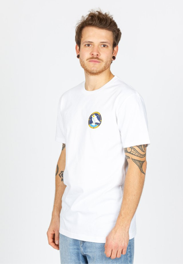 SPACE GULL - T-shirt print - white