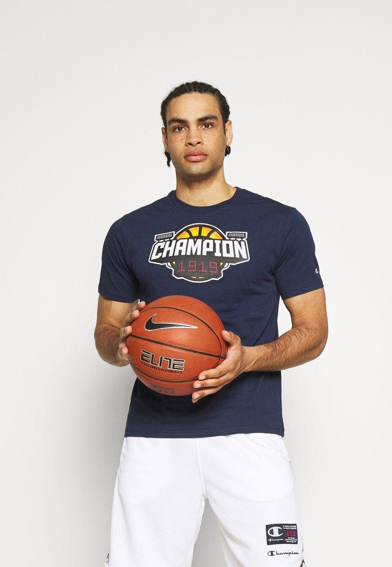 Champion - CREWNECK - T-shirt imprimé - dark blue