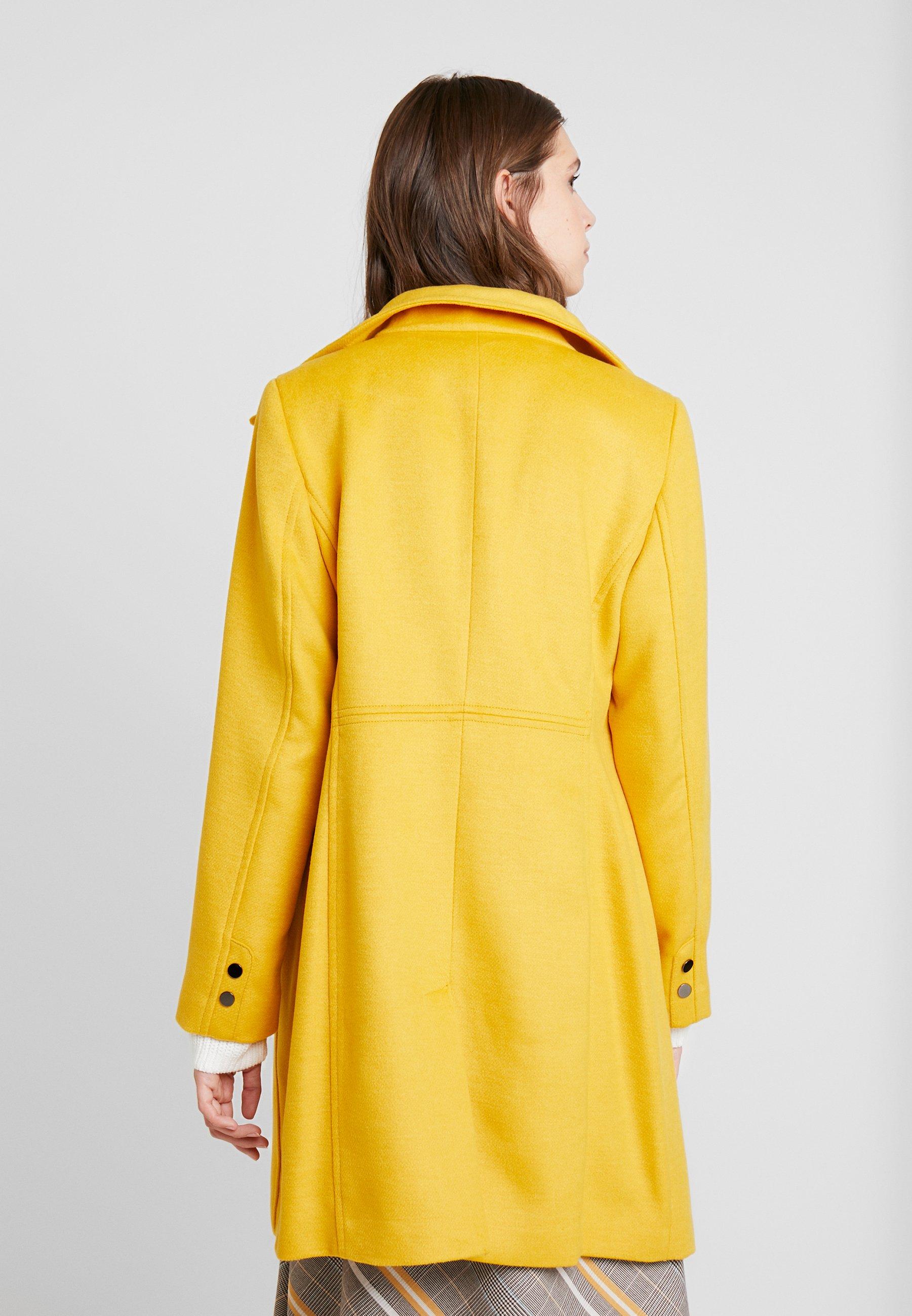 FEMININE COAT Mantel amber yellow
