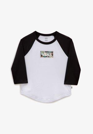 WM 3/4 AUTUMN CLASSIC BOX RAGLAN - Long sleeved top - white/black