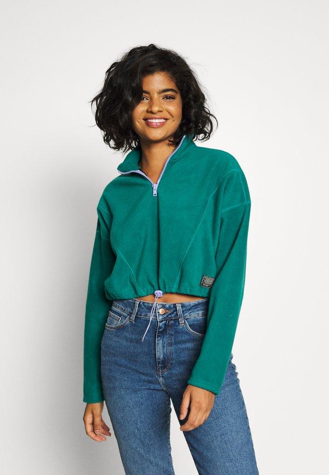 TRACK - Sweatshirt - emerald green combo