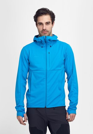 Soft shell jacket - gentian-horizon melange