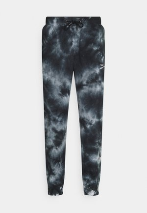 UNISEX - Tracksuit bottoms - mottled black