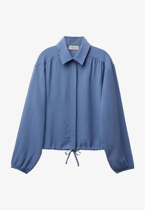 MIT TUNNELZUG - Button-down blouse - grau - 8567 - deep smoke