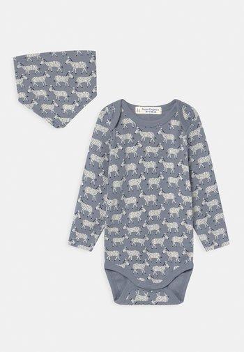 YVON RETRO BABY SET UNISEX - Body - blue
