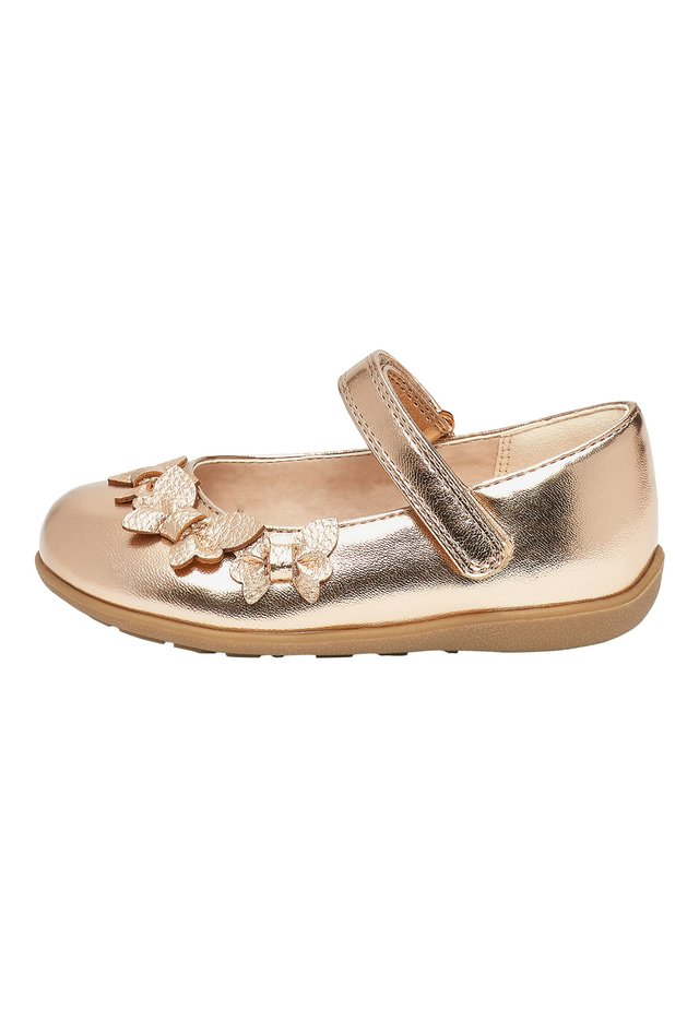 WHITE BUTTERFLY MARY JANE SHOES (YOUNGER) - Ballerinaskor med remmar - gold