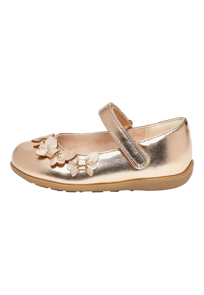 Next - WHITE BUTTERFLY MARY JANE SHOES (YOUNGER) - Baleríny s páskem - gold