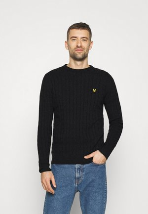 CABLE JUMPER - Jumper - jet black marl