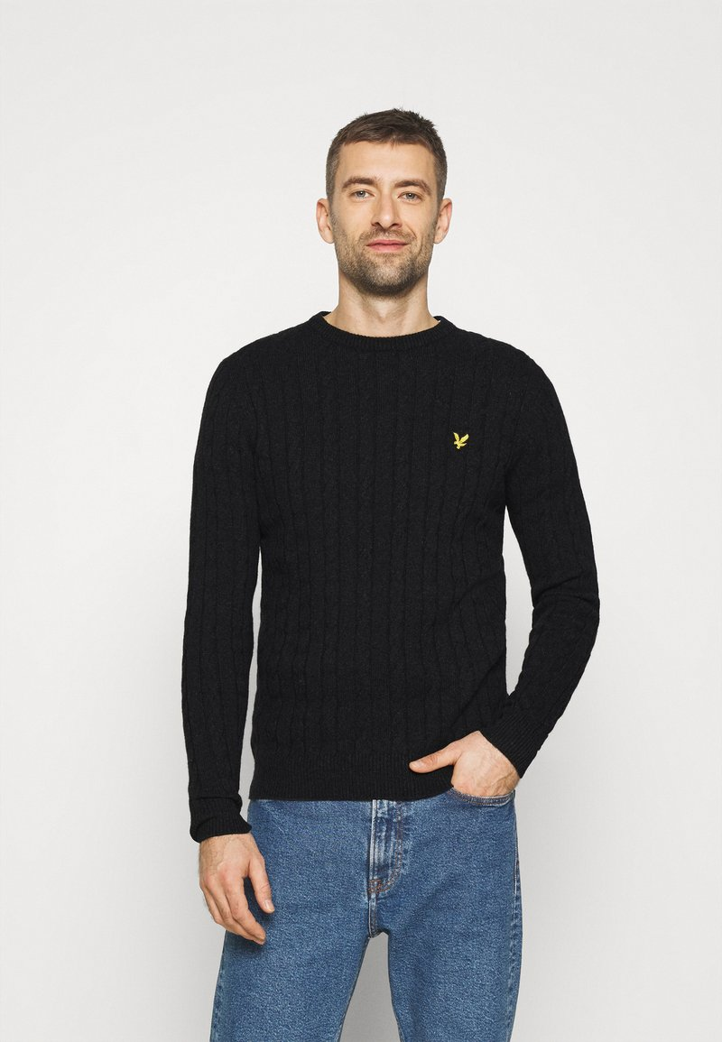 Lyle & Scott - CABLE JUMPER - Jumper - jet black marl