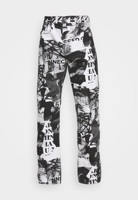 Weekday - SPACE PAPER COLLAGE TROUSERS - Jeans baggy - black - 3