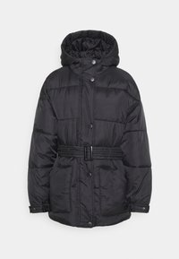 Missguided Tall - SELF BELTED PUFFER - Winter jacket - black - 0