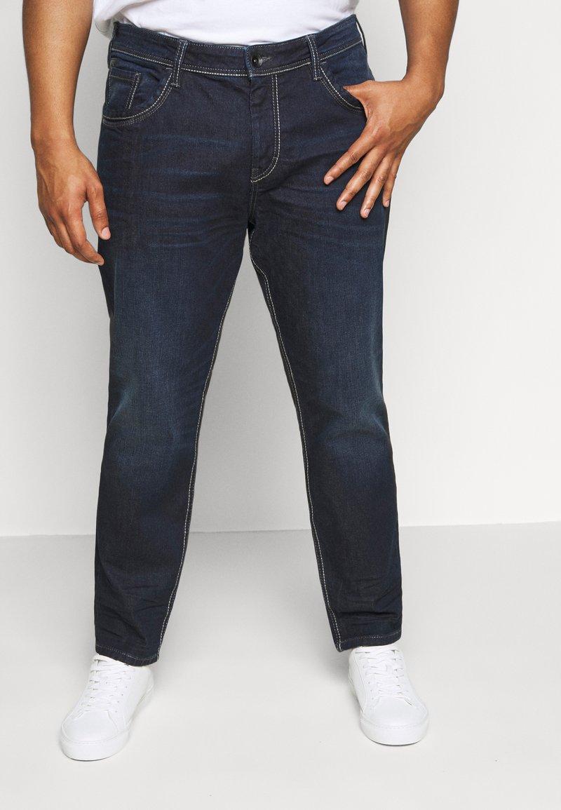 TOM TAILOR MEN PLUS - Straight leg jeans - dark stone wash denim