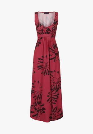 EMPIRE - Maxi dress - red with black flowers