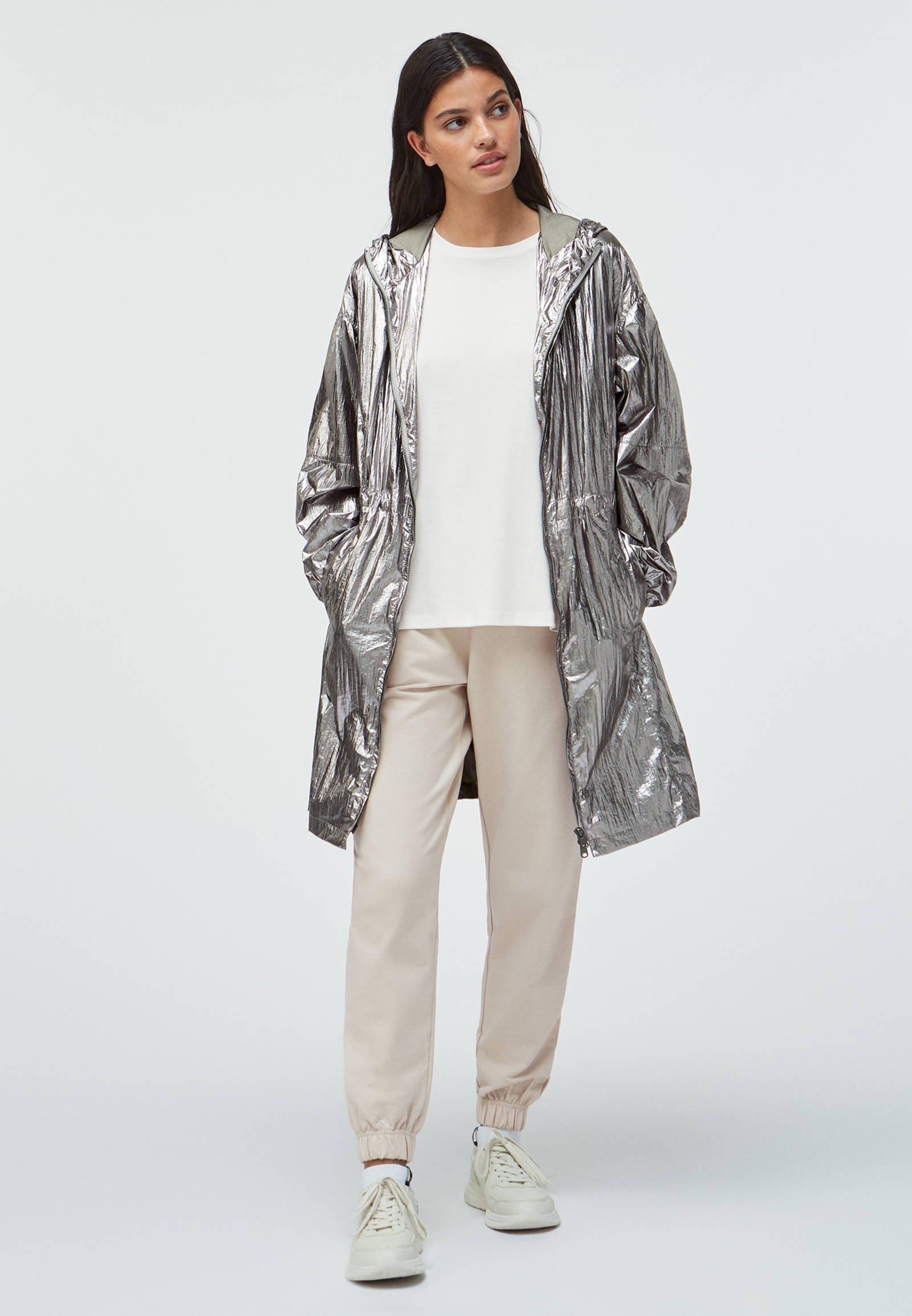 OYSHO_SPORT Parka - silver - Manteaux Femme B0YTr