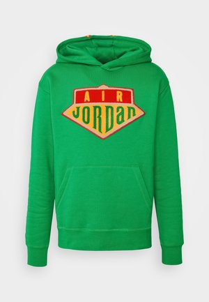 HOODIE - Sweatshirt - lucky green/track red