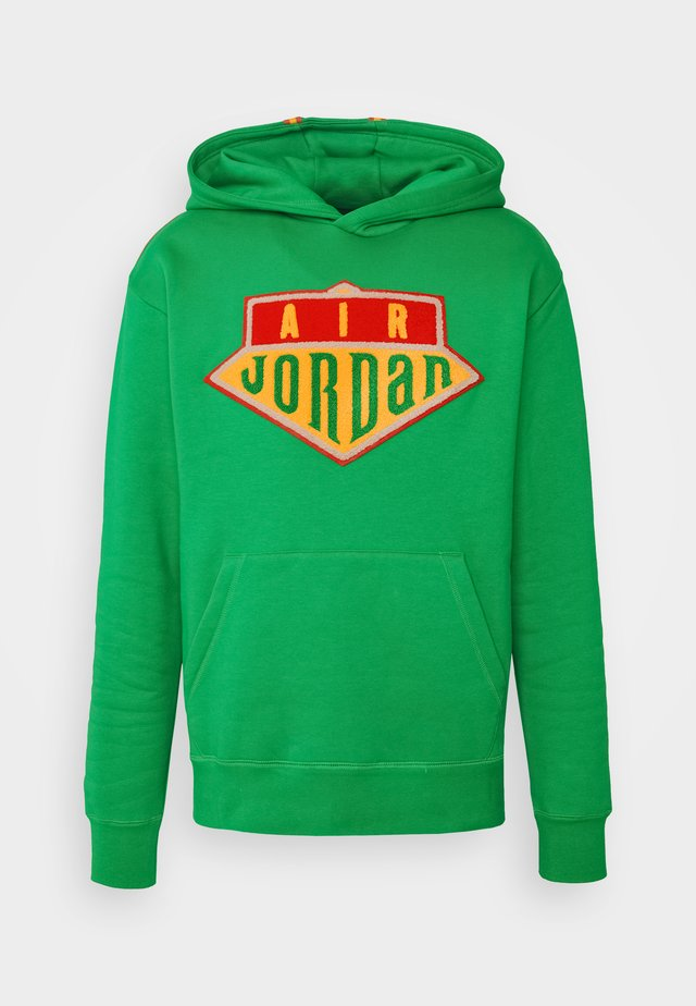 HOODIE - Bluza - lucky green/track red