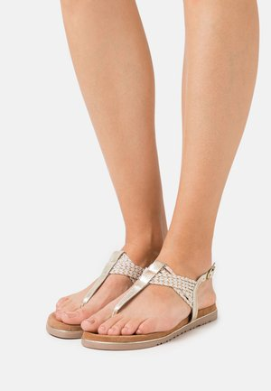 Sandalias de dedo - platinum