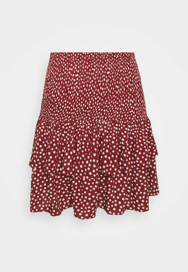 KIREMIT - A-line skirt - brick