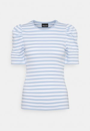 PCANNA - Print T-shirt - bright white/kenntucky blue