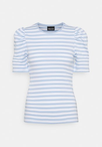 PCANNA - Triko spotiskem - bright white/kenntucky blue