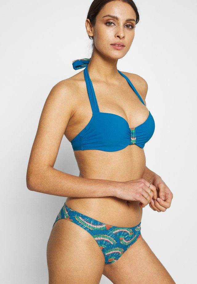PLUME MEMORY SCHALE - Bikini top - blue /peacock