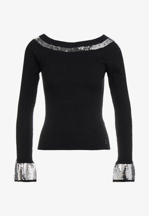 Pullover - nero/silver