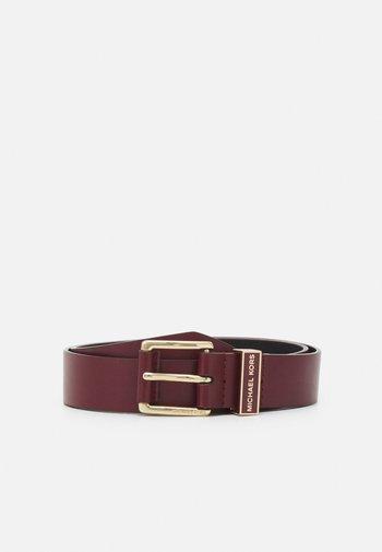 BELT - Belt - dark berry/gold-coloured