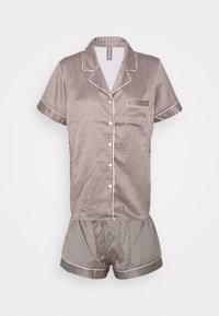LingaDore - TOP WITH SHORTS SET - Pyjamas - white/grey - 4