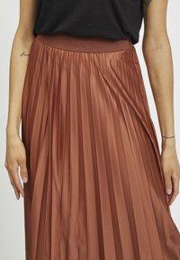 Vila - Pleated skirt - tobacco brown - 3