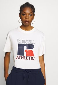 Russell Athletic Eagle R - VIRGINIA - T-shirt con stampa - soya - 0
