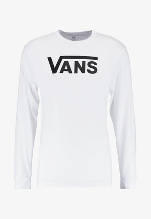 CLASSIC FIT - Long sleeved top - white/black