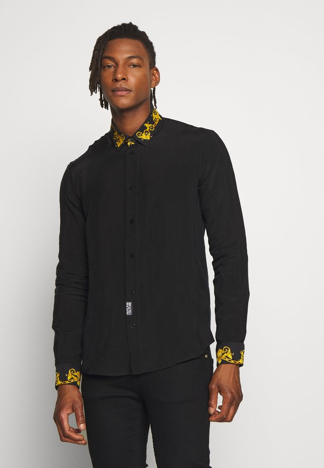 BAROQUE COLLAR SHIRT - Camisa - black