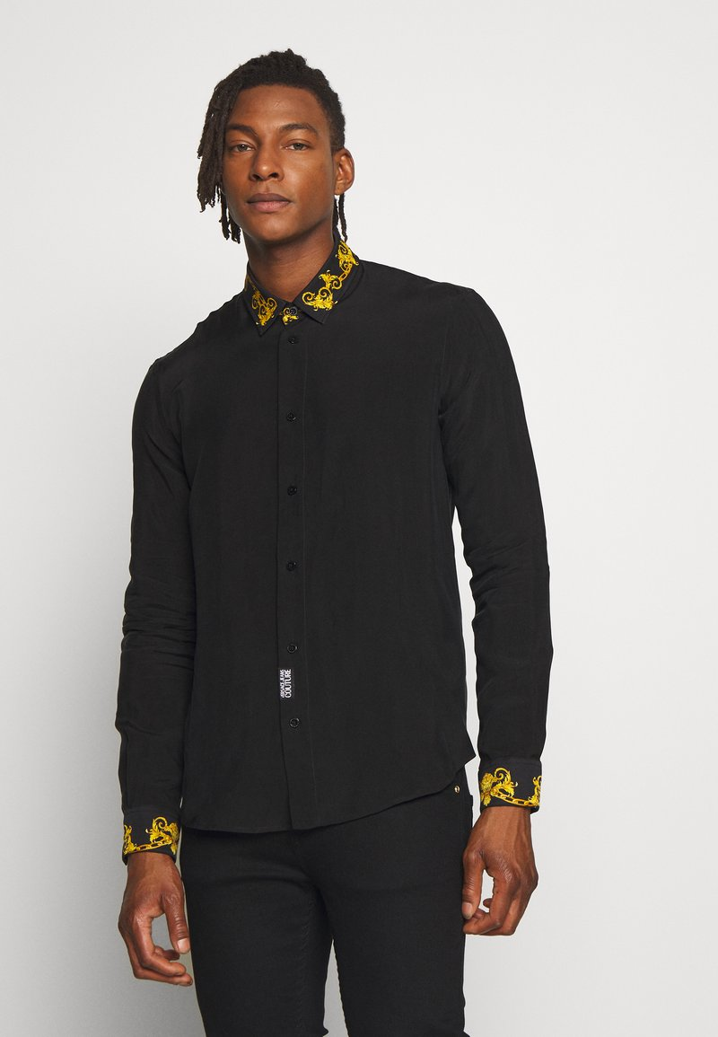 Versace Jeans Couture - BAROQUE COLLAR SHIRT - Koszula - black