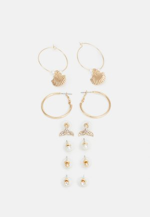 RIVERINA 6 PACK - Earrings - gold-coloured/clear multi