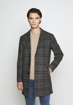 JPRBLAMOULDER CHECK - Classic coat - dark grey melange