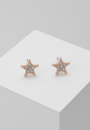 STAR SMALL EAR - Øredobber - rosé/clear