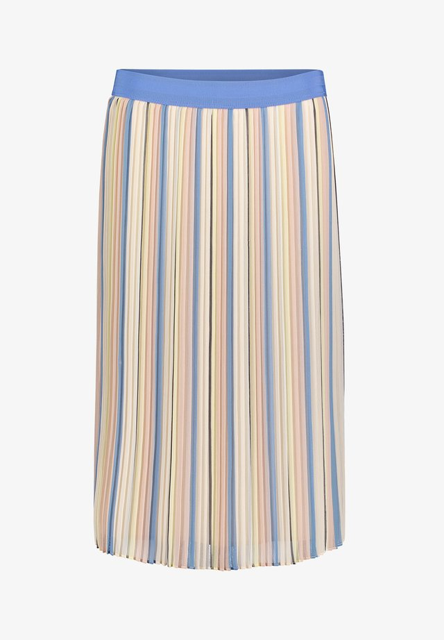 Pleated skirt - light blue/cream
