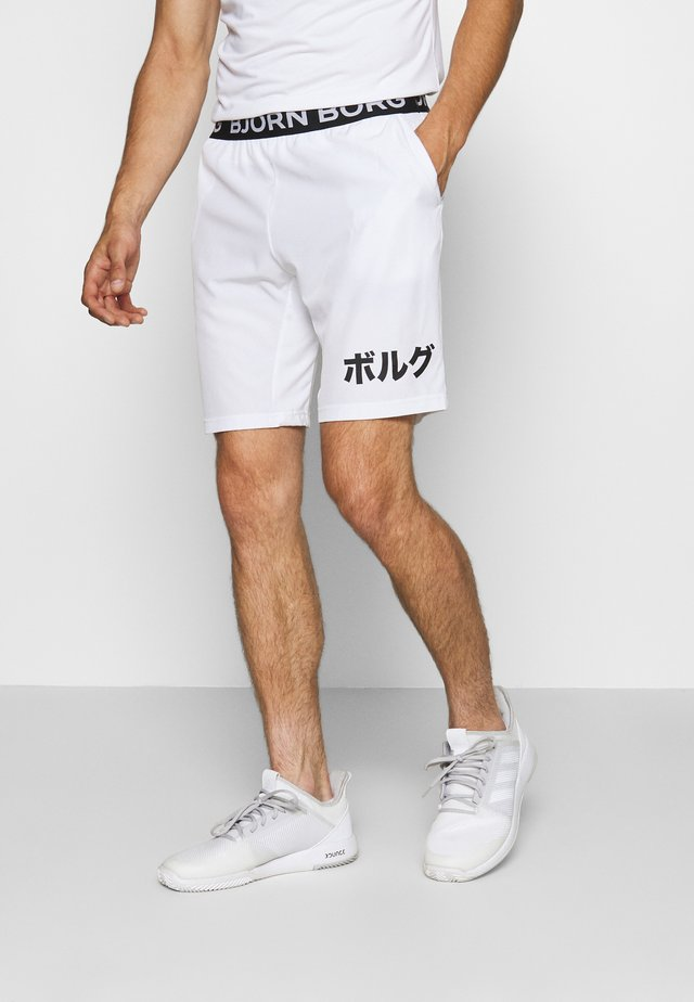 AUGUST SHORTS - Pantalón corto de deporte - brilliant white