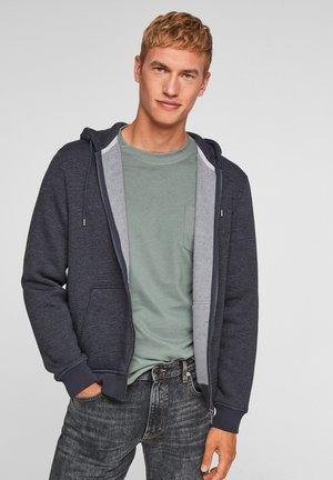 Zip-up sweatshirt - dark blue stripes