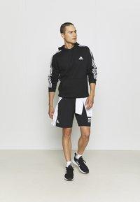 adidas Performance - 3 STRIPES ESSENTIALS - Hættetrøjer - black/white - 1